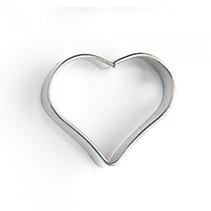 uitsteekvorm hartje 3 x 3 x 1 cm blank staal