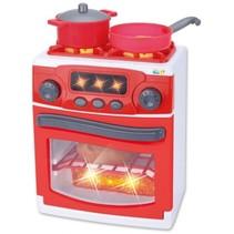 speelgoedkeuken met licht en geluid 23 cm rood