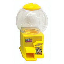 snoepmachine 10 cm geel