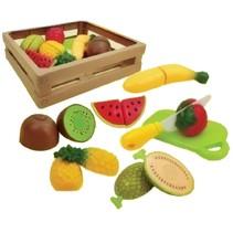 fruitmand met fruit 23 cm 8-delig