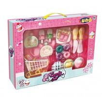 cupcake en snoep speelgoedeten met winkelwagen 20-delig