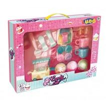cupcake en snoep speelgoedeten met kraampje 21-delig