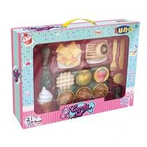 cupcake, ijs en snoep speelgoedeten 21-delig
