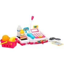 speelgoedkassa met boodschappen 14-delig