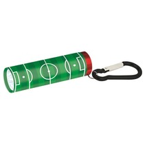 zaklamp Voetbal junior aluminium 8,5 cm groen/wit