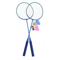 badmintonset blauw 5-delig