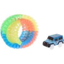 autobaan speelset met auto 57-delig blauw