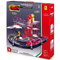 Race & Play garageset met Ferrari F12 1:43 rood
