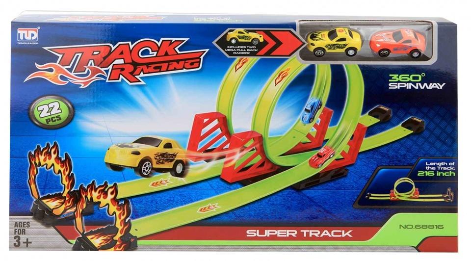 Jonotoys lanceerbaan Racing Track Looping jongens 22-delig