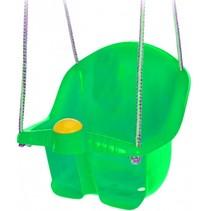 babyschommelzitje met touw 30 cm groen