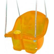 babyschommelzitje met touw 30 cm oranje