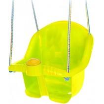 babyschommelzitje met touw 30 cm geel