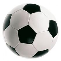 voetbal Zacht junior 8 cm wit/zwart