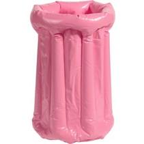 opblaasbare drankkoeler PVC roze