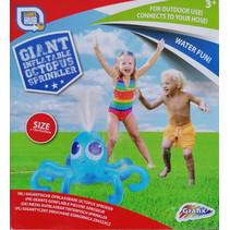 watersproeier opblaasbaar Octopus 75 cm blauw