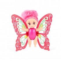 baby fee met beweegbare vleugels roze