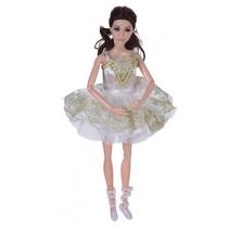 tienerpop ballerina wit 30 cm