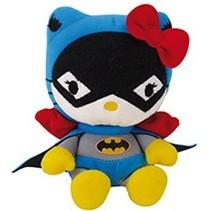 Hello Kitty Knuffel Batwoman meisjes blauw/zwart 17 cm