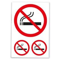 etiketten Niet Roken papier wit/rood/zwart 2 vellen