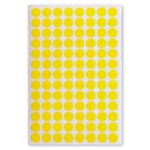 etiketten rond 8 mm papier geel 3 vellen á 104 cm
