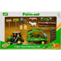 boerderijset 13-delig o.a. boomtransporter