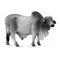 boerderijdieren: Brahmaan stier 14 cm grijs