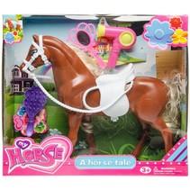 paard bruin 25 cm