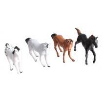 dierenset Horses 5 cm bruin/zwart/wit 10 stuks