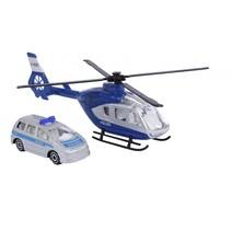 Duitse politie met helikopter 18 cm blauw 2-delig