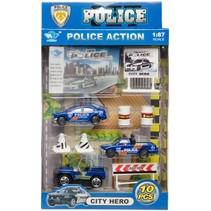 politieset 10-delig o.a. politieauto