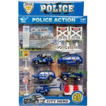 politieset 20-delig o.a. politiejeep