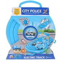 speelset politie in opruimbox blauw 33 cm