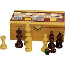 houten schaakstukken 76 mm
