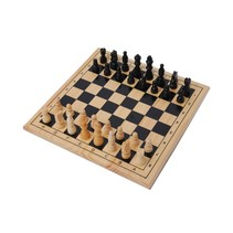 3-in-1 houten bordspel 29 cm