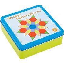 puzzelspel Tangram junior hout 52-delig