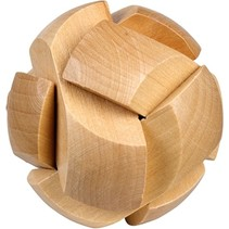 Be clever! houten smart puzzels bal
