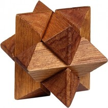 Be clever! houten smart puzzels ster