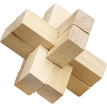 Be clever! houten smart puzzels kruis
