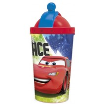 drinkbeker met rietje Cars 450 ml