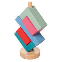 blokkentoren hoekig junior 20,32 cm hout 5-delig