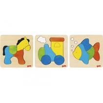 puzzelset 15 cm multicolor 3 stuks