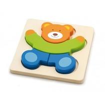 houten vormenpuzzel beer 4 stukjes