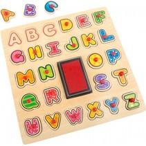 Alfabet stempels en puzzel 30 x 30 x 1 cm