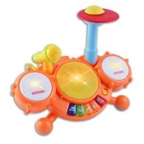 drumstel met microfoon Baby Drum 30,5 cm oranje