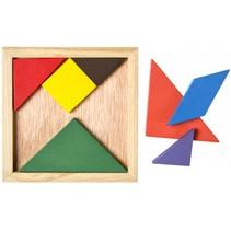 houten vormenpuzzel 12 cm 7 stukjes
