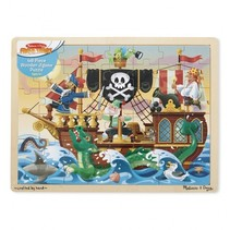 Pirate adventure houten puzzel 48-delig