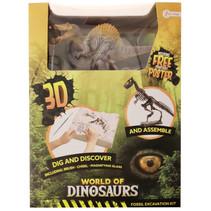 opgraafkit World of Dinosaurs spinosaurus gips 5-delig