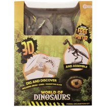 opgraafkit World of Dinosaurs triceratops gips 5-delig