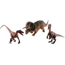 dinosaurussen Raptors 3-delig groen/bruin