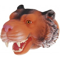 handpop tijger 22 cm bruin